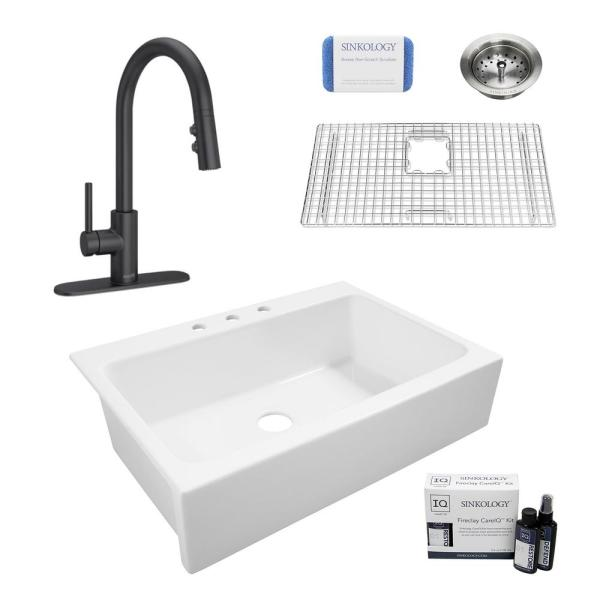 Sinkology Elevate All In One Quick Fit, Drop In Farm Sink Home Depot