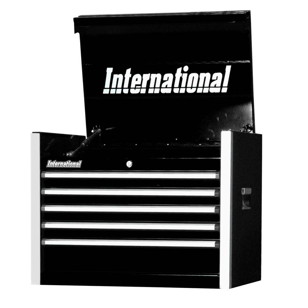 Pro Series 27 in. 5-Drawer Top Chest, Black