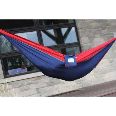 10 ft. Parachute Double Hammock in Navy/Red