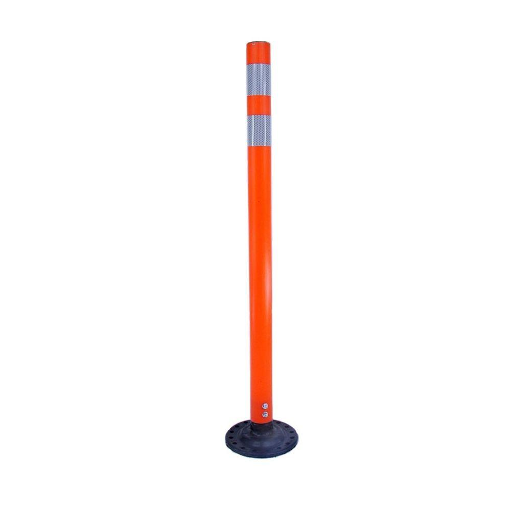 Three D Traffic Works 42 In Orange Round Delineator Post With High