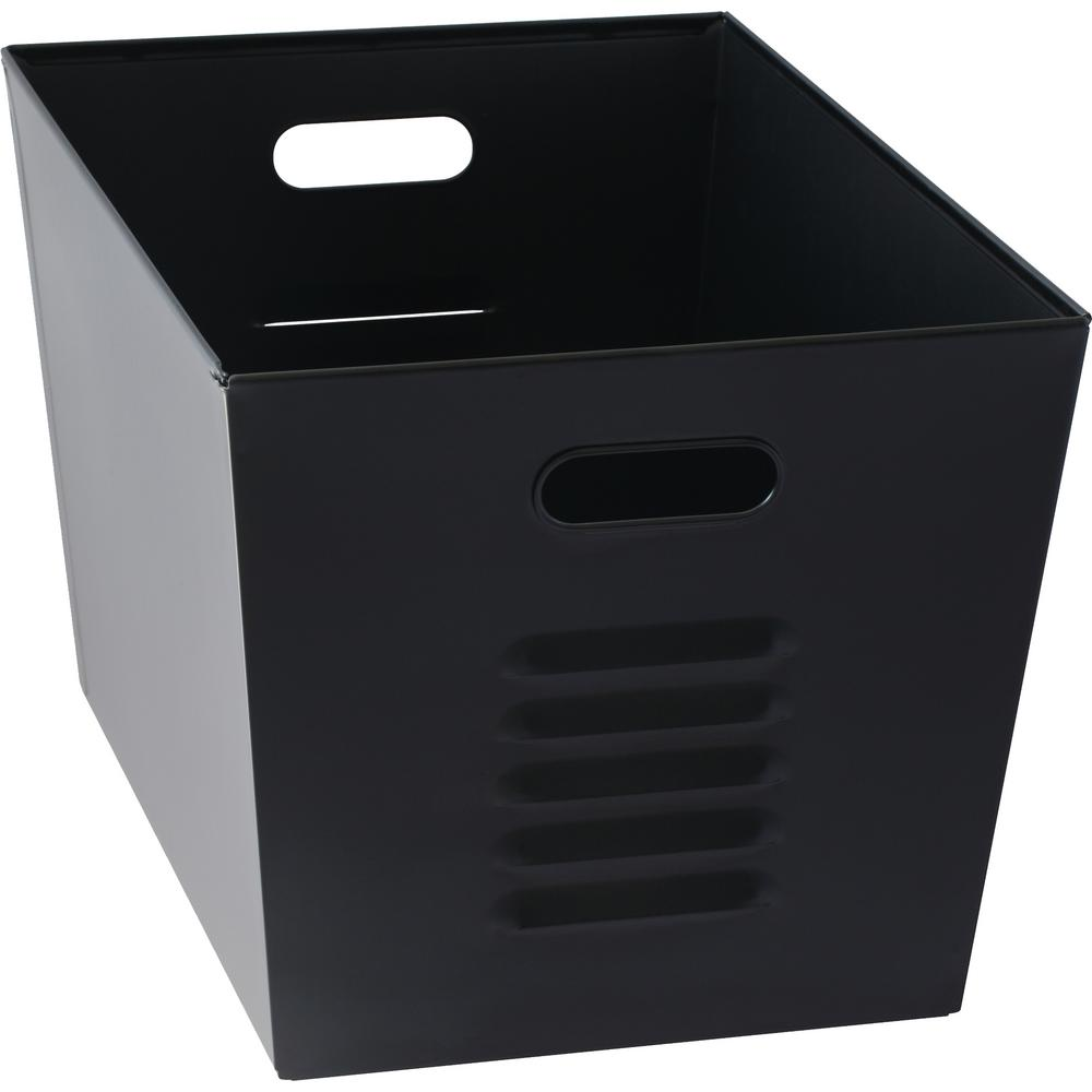 Muscle Rack 12 in. W x 11 in. H x 17 in. D Galvanized Steel Black Utility Storage Bins (6-Pack)
