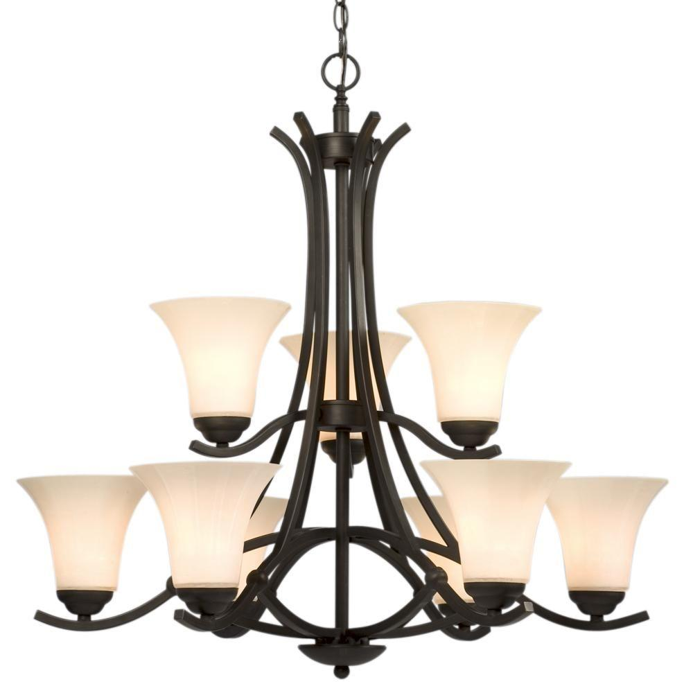 Filament Design Negron 9-Light Oil Rubbed Bronze Incandescent Chandelier