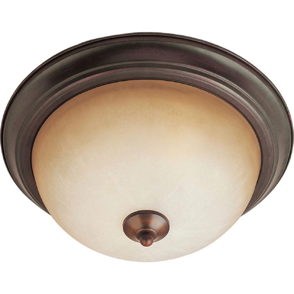Maxim Lighting Essentials 2 Light Oil Rubbed Bronze Flush Mount