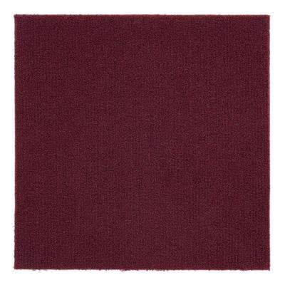 Nexus Burgundy 12 in. x 12 in. Peel and Stick Carpet Tiles (12 Tiles/Case)