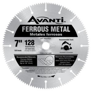 Avanti 7 inch x 128-Teeth Ferrous Metal Cutting Saw Blade by Avanti