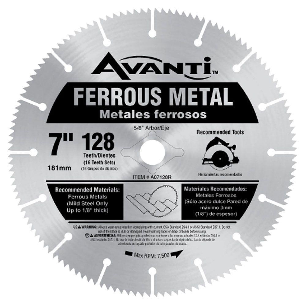 Click here to buy Avanti 7 inch x 128-Teeth Ferrous Metal Cutting Saw Blade by Avanti.