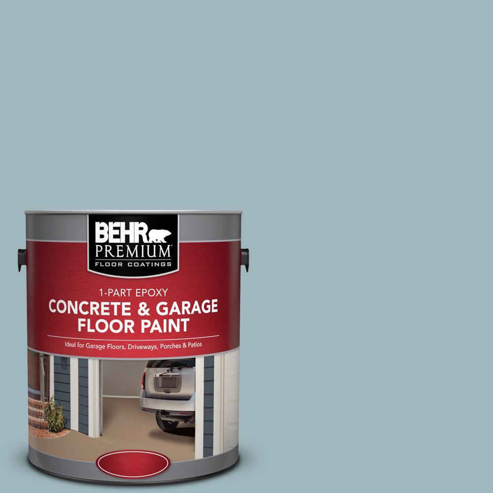 Pfc 51 Nautical Blue 1 Part Epoxy Satin Interior Exterior Concrete And Garage Floor Paint