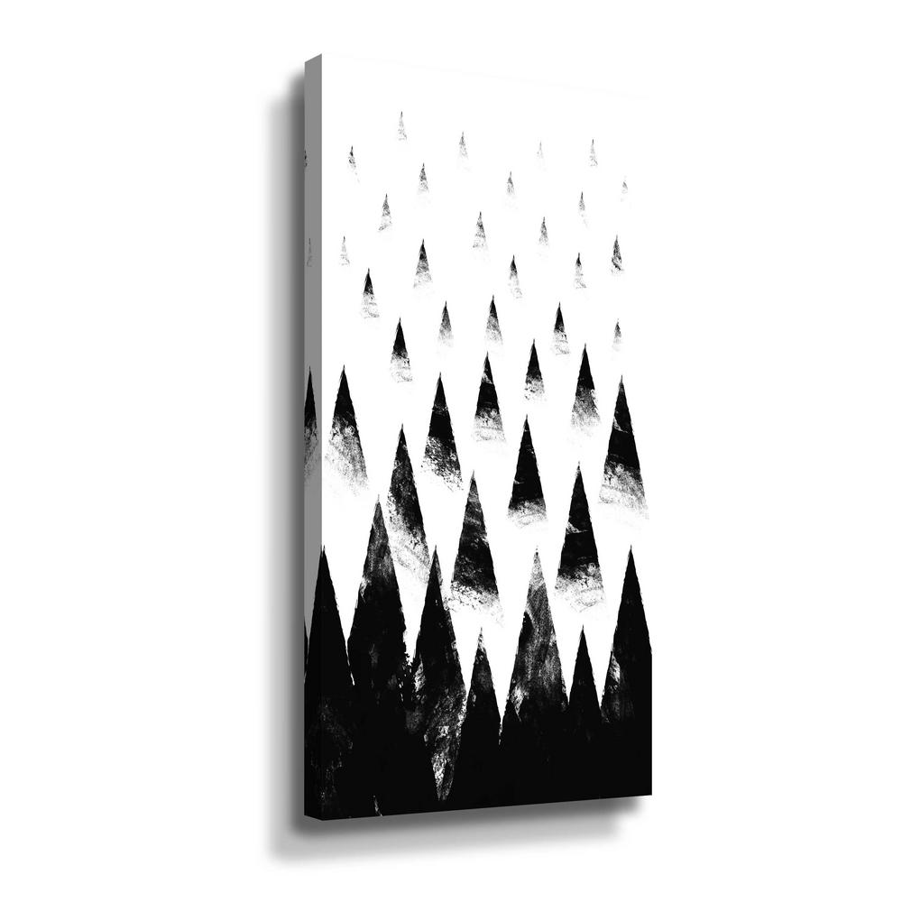 ArtWall 'Black hills' by Robert Farkas Canvas Wall Art, Black This beautiful gallery wrapped canvas art is the perfect piece of wall decor for that bare wall. Display this gorgeous wall art decor in the living area with some brushed nickel sconces. Hang this artwork in the dining area for a wonderful conversation piece. Color: Black.