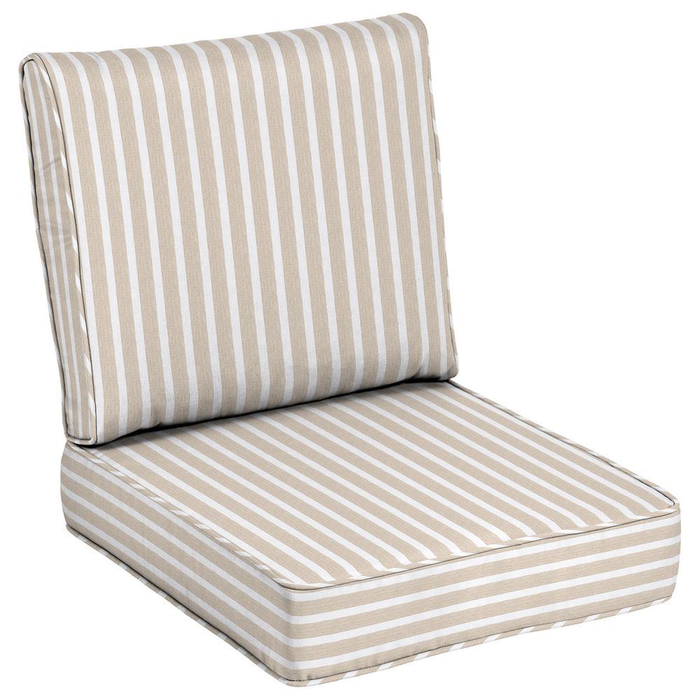 Striped Uv Resistant Sunbrella Fabric Outdoor Cushions Patio