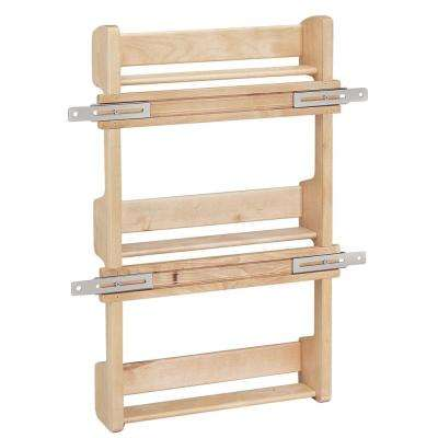 21.5 in. H x 13.5 in. W x 3.12 in. D Medium Cabinet Door Mount Wood 3-Shelf Spice Rack