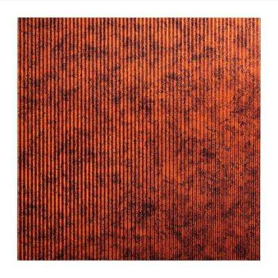Rib - 2 ft. x 2 ft. Lay-in Ceiling Tile in Moonstone Copper