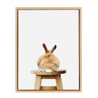 "Sylvie ""Rabbit Back"" by Amy Peterson Framed Canvas Wall Art"