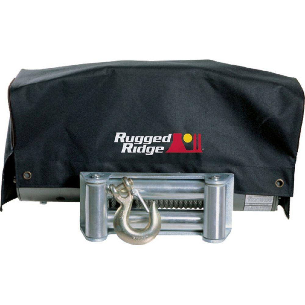 Traveller Winch: Rugged Ridge 8,500 Lbs. X 10,500 Lbs. Winch Cover-15102.02