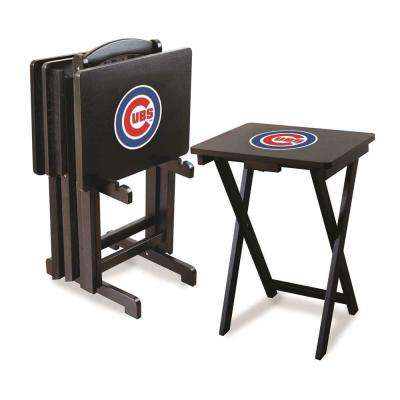 Chicago Cubs 4-TV Tray and Stand Set