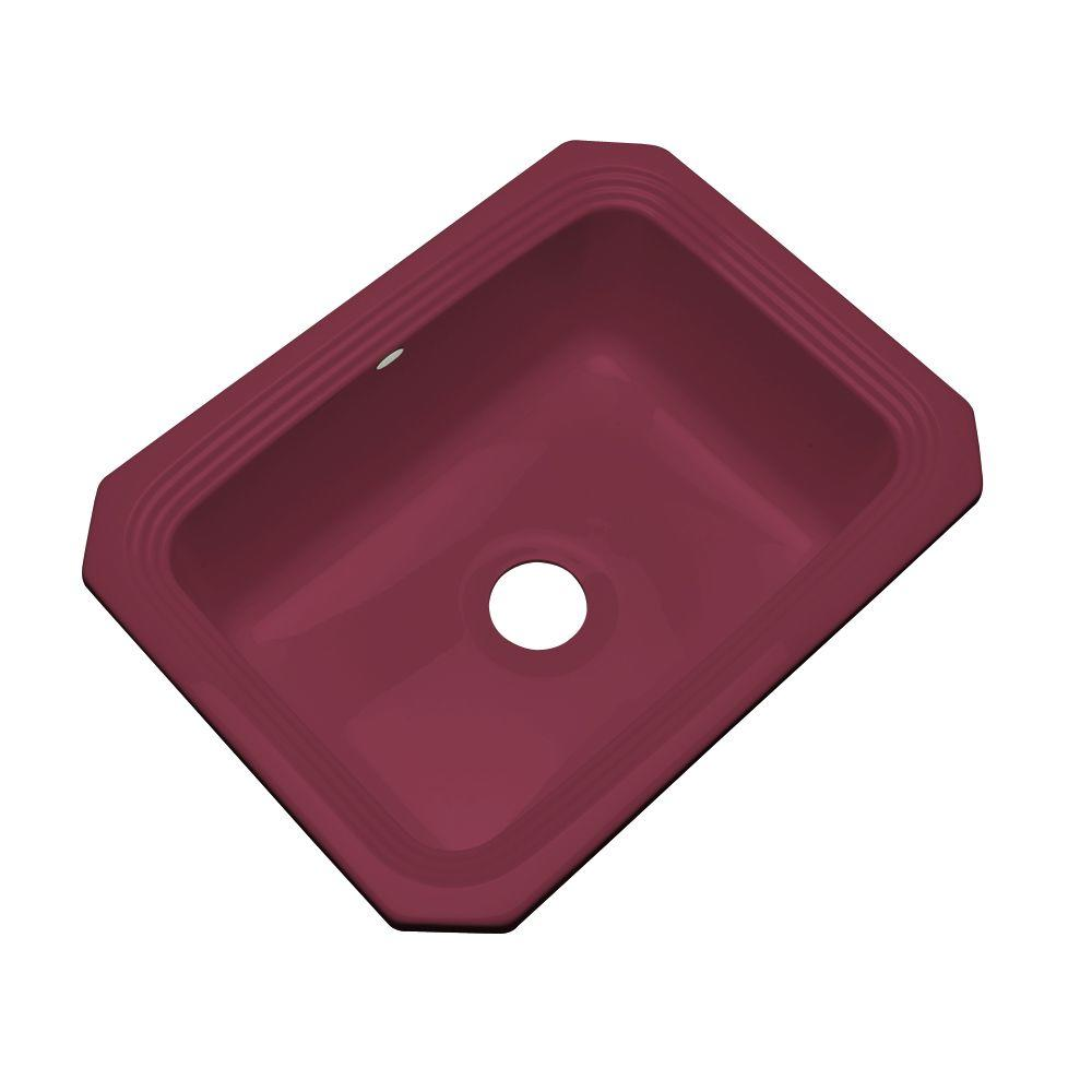 Thermocast Rochester Undermount Acrylic 25 in. Single Basin Kitchen Sink in Loganberry
