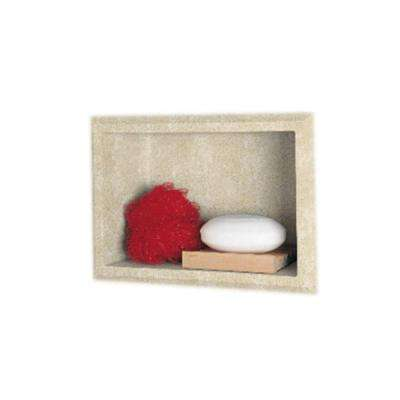 4-1/8 in. x 7-1/2 in. x 10-3/4 in. Recessed Accessory Shelf in Cloud Bone