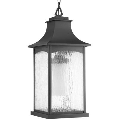 Maison Collection 1-Light Outdoor Black Hanging Lantern