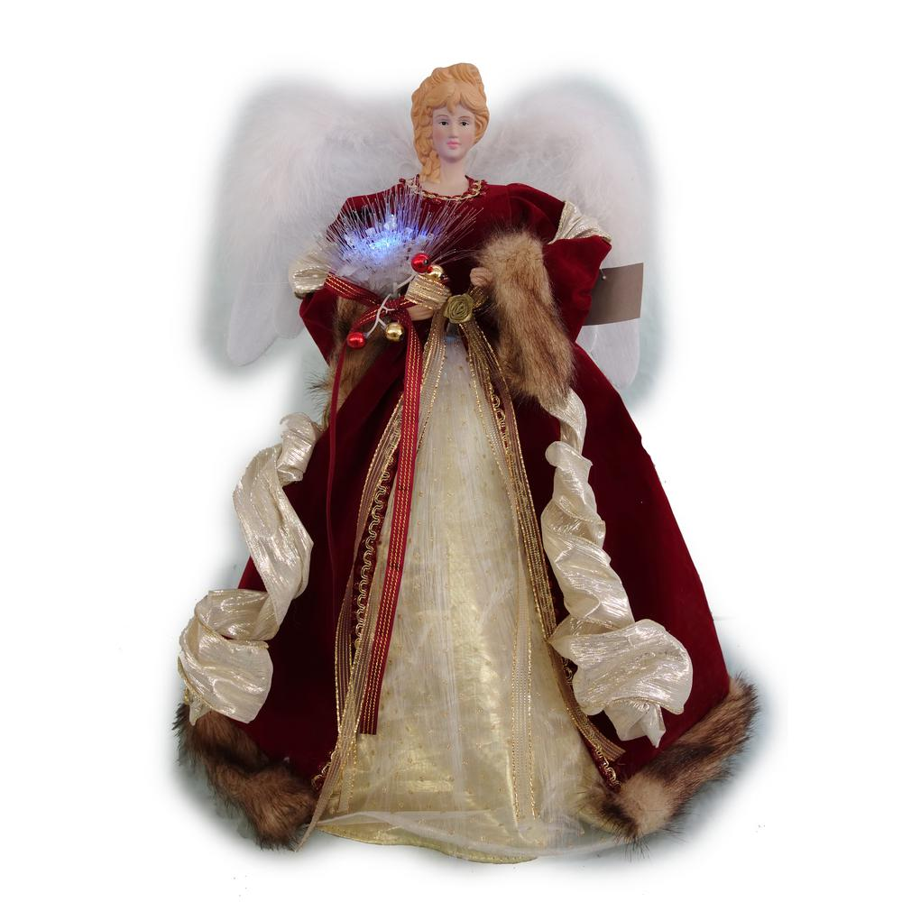 Home Accents Holiday 18 In Led Red Fiber Optic Angel A