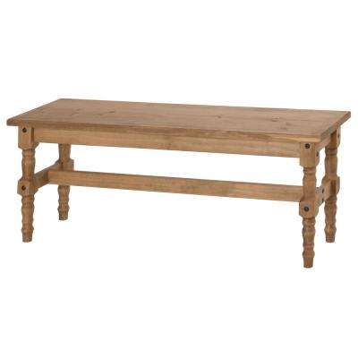 Jay 47.25 in. Nature Solid Wood Dining Bench
