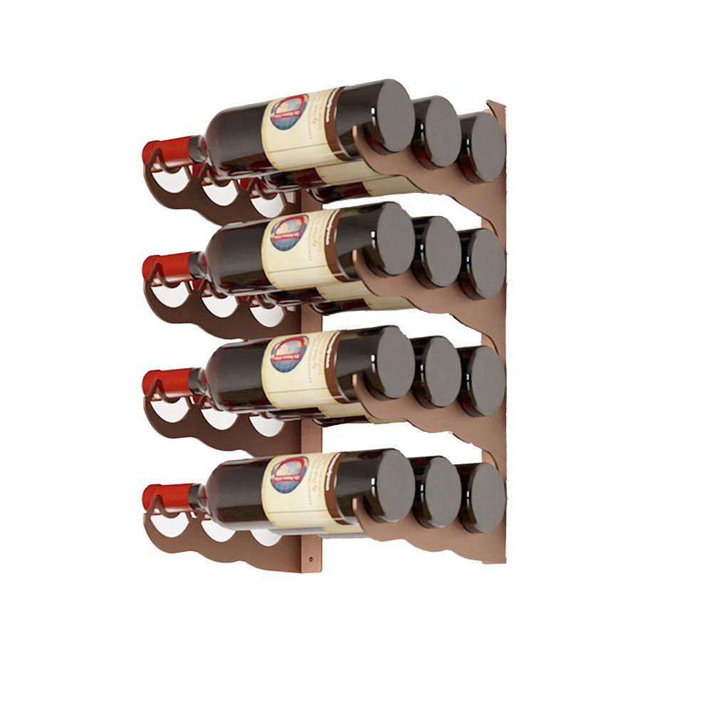 Eagle Edition 12-Bottle Wall Mounted Triple Row Wine Rack