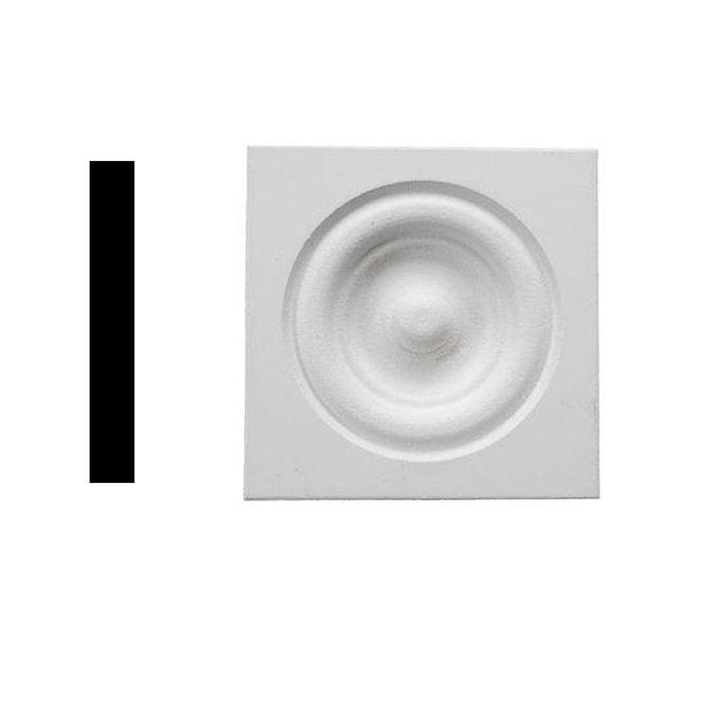 Alexandria Moulding 3/4 in. x 2-1/2 in. x 2-1/2 in. Primed MDF Rosette Corner Block Moulding