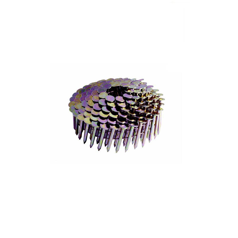 1 In X 0 120 In Electro Galvanized Metal Coil Roofing Nails 7 200 Per Box Grcr2dgal The Home Depot