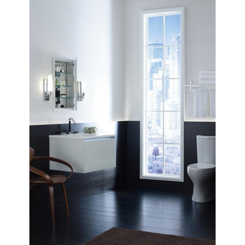 Robern R3 Series Cabinet 16 in. x 20 in. x 4 in. Single Door Bevel Edge