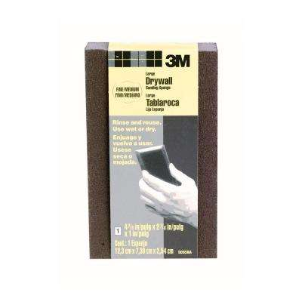 4.875 in. x 2.875 in. x 1 in. Fine/Medium Grit Drywall Sanding Sponge