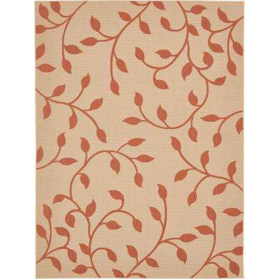 Outdoor Botanical Beige 9' x 12' Rug