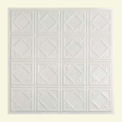 Ludington 2 ft. x 2 ft. Lay-in Tin Ceiling Tile in Matte White