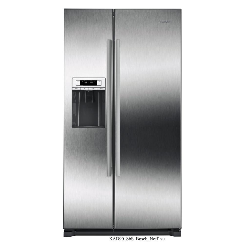 Bosch 300 Series 36 In 20 2 Cu Ft Side By Side Refrigerator In