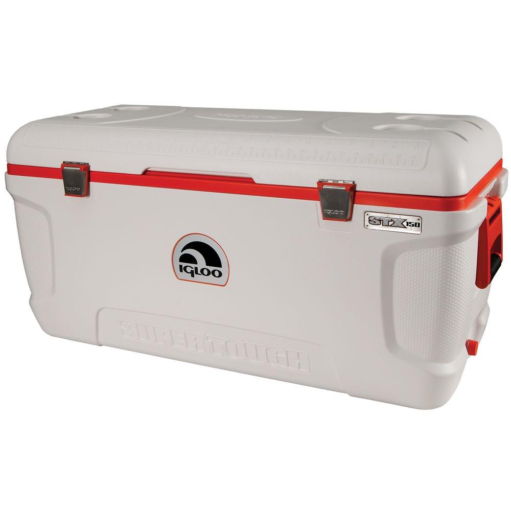 Igloo Super Tough STX 150 Qt. Built-in Cup Holders Cooler...