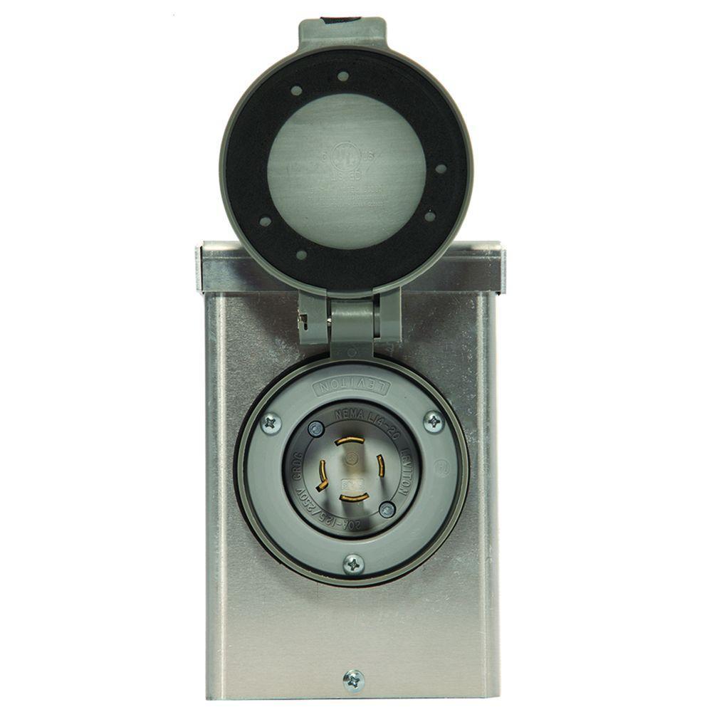20-Amp Aluminum Power Inlet Box