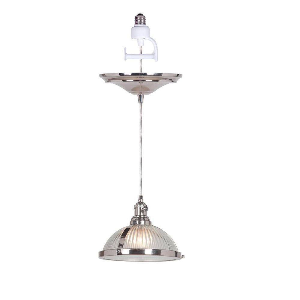 Home decorators collection hampton 1 light polished nickel for Home decorations catalog
