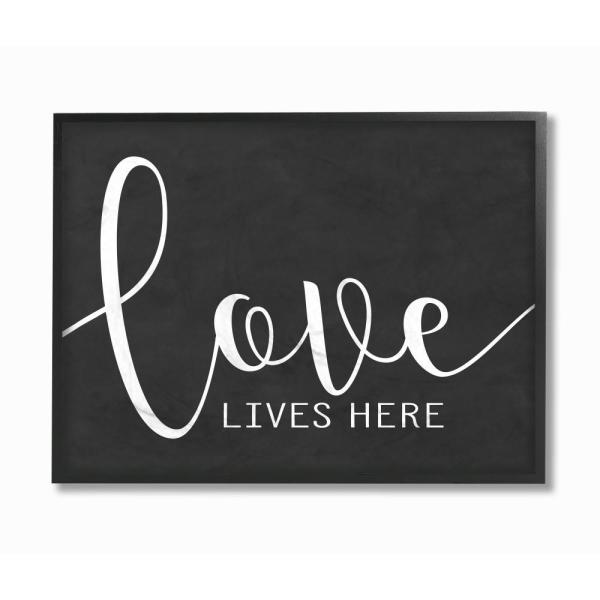 The Stupell Home Decor Collection 11 in. x 14 in. ''Love