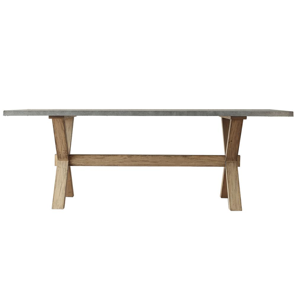 Homesullivan upton weathered light oak dining table 405100 for Spl table 98 99