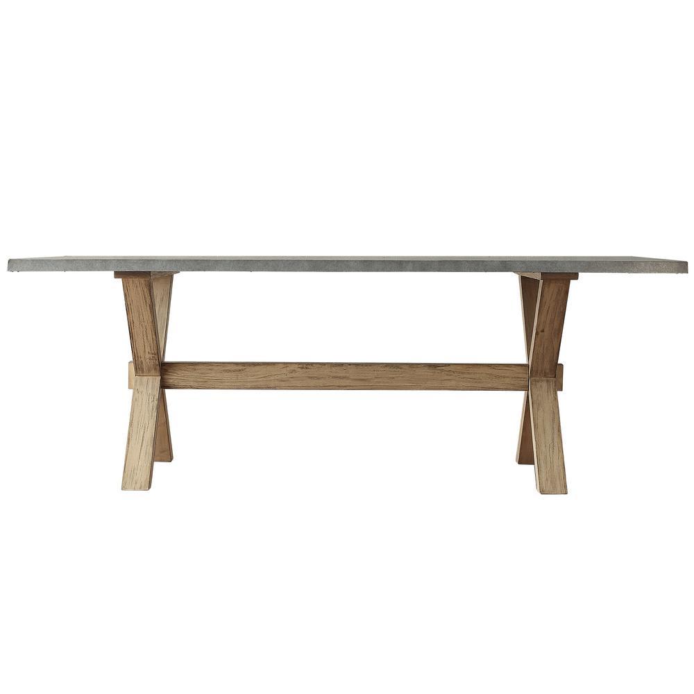 Upton Weathered Light Oak Dining Table