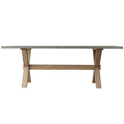 Upton Weathered Light Oak Dining Table