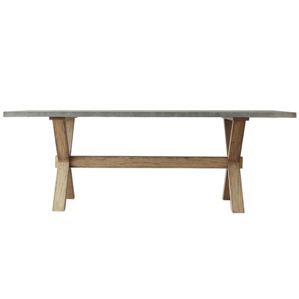 HomeSullivan Upton Weathered Light Oak Dining Table