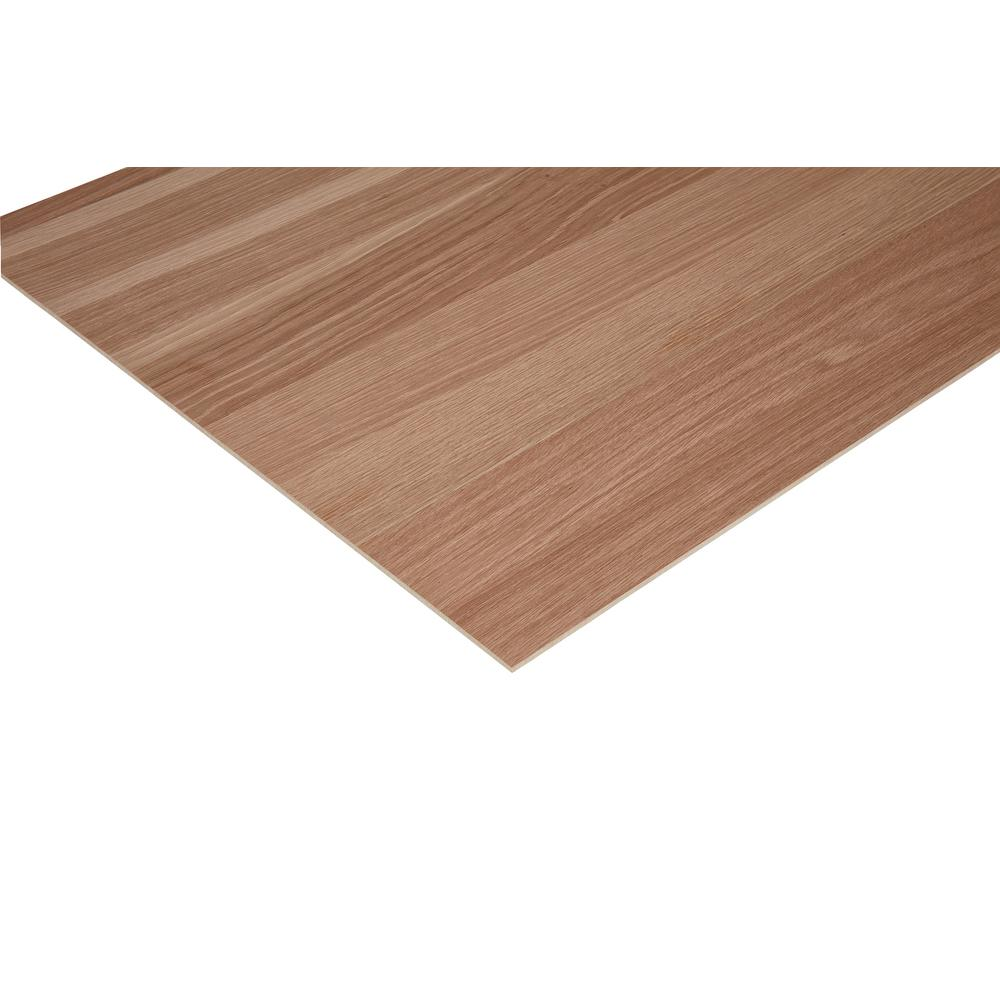 Columbia Forest Products 1/4 in. x 2 ft. x 4 ft. PureBond Enhanced Grain White Oak Plywood Project Panel