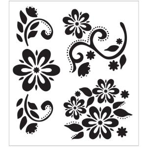 Folkart Debbie S Floral Painting Stencils 30599 The Home