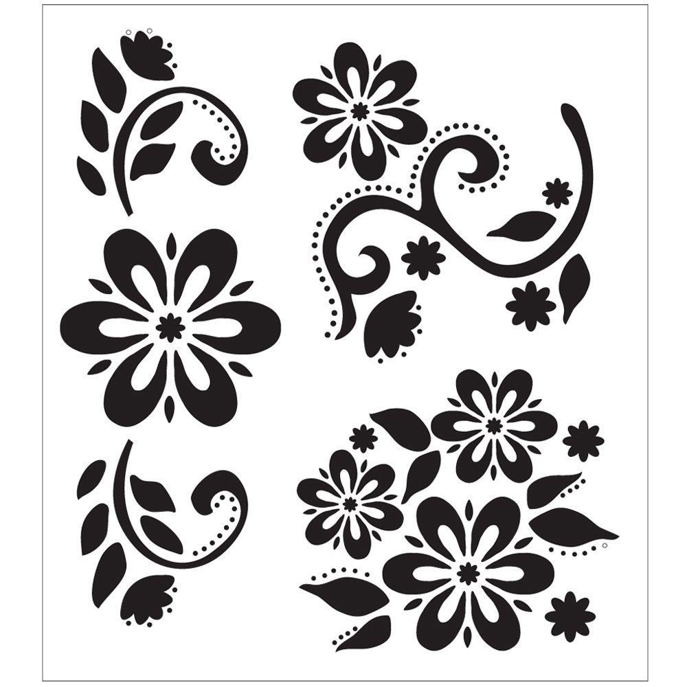 Debbie's Floral Painting Stencils