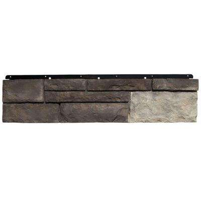 8 in. x 36 in. Versetta Stone Tight-Cut Corner Graphite Siding (6-Bundle/Box)