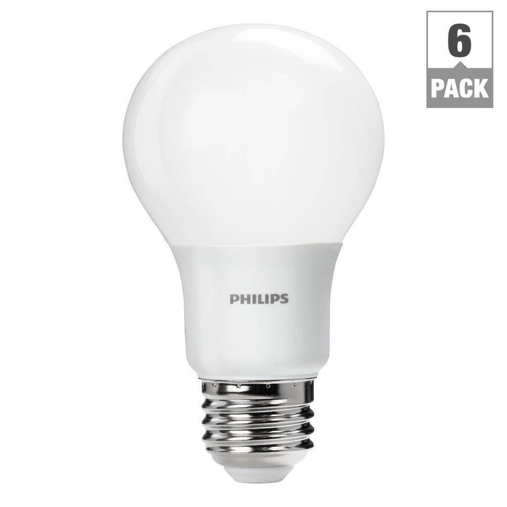 Philips 60w equivalent soft white a19 led light bulb 6 pack philips 60w equivalent soft white a19 led light bulb 6 pack 455949 the home depot parisarafo Images