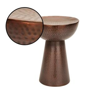 Internet #300941936. Null Hammered Copper End Table
