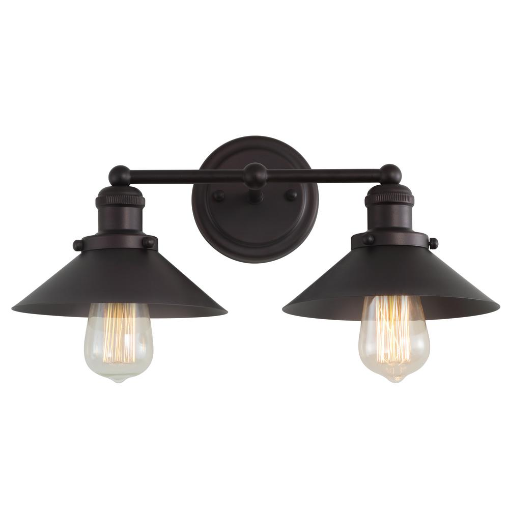 2 Light Metal Oil Rubbed Bronze Vanity