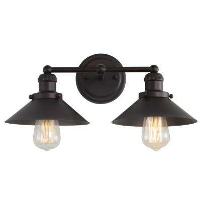 July 17.5 in. 2-Light Metal Oil Rubbed Bronze Vanity Light