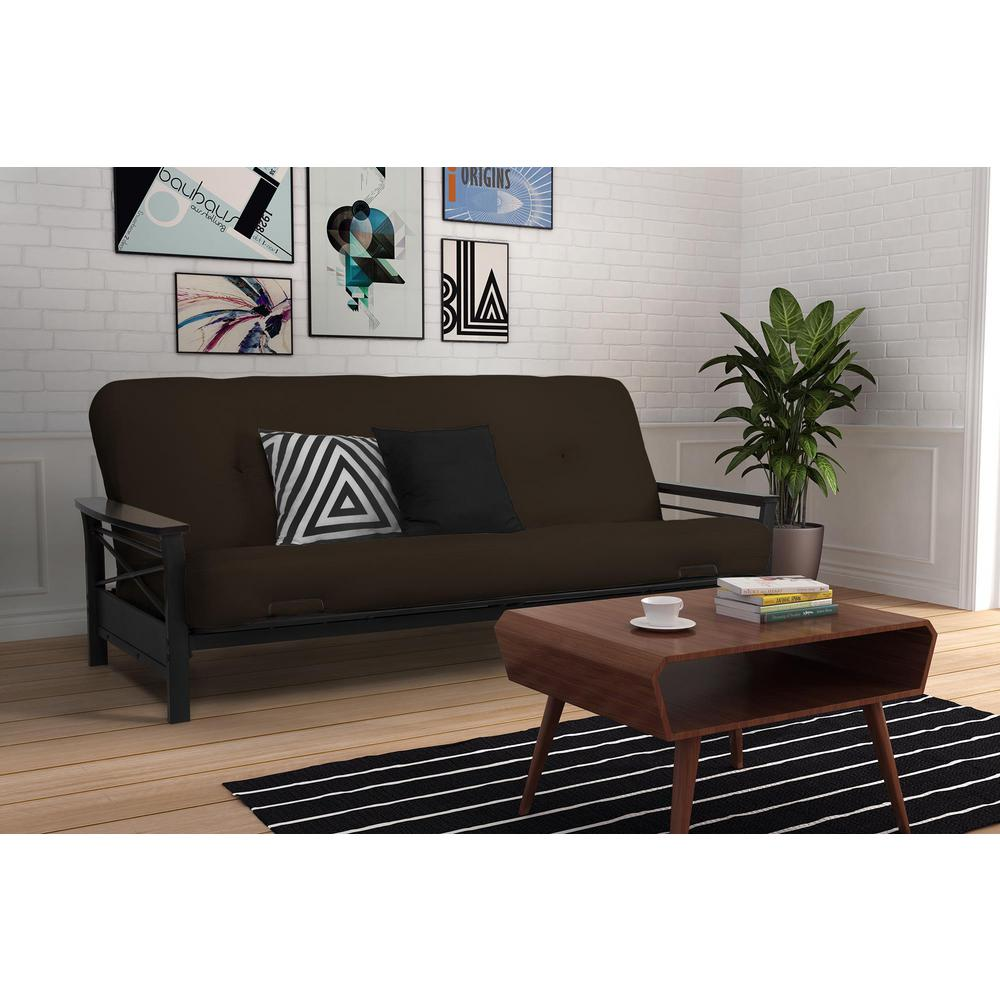 Medium image of nadine black espresso futon frame