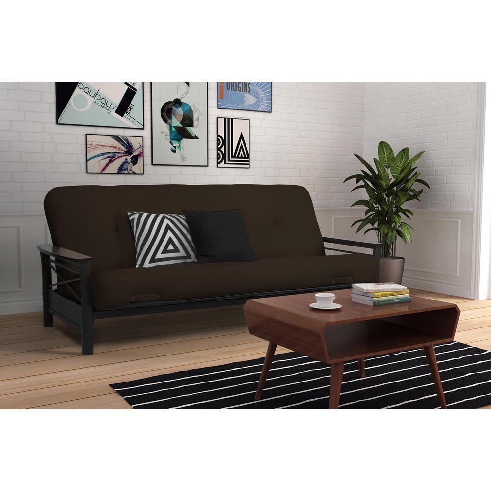 DHP Nella Black and Espresso Futon Frame DE08763 - The Home ...