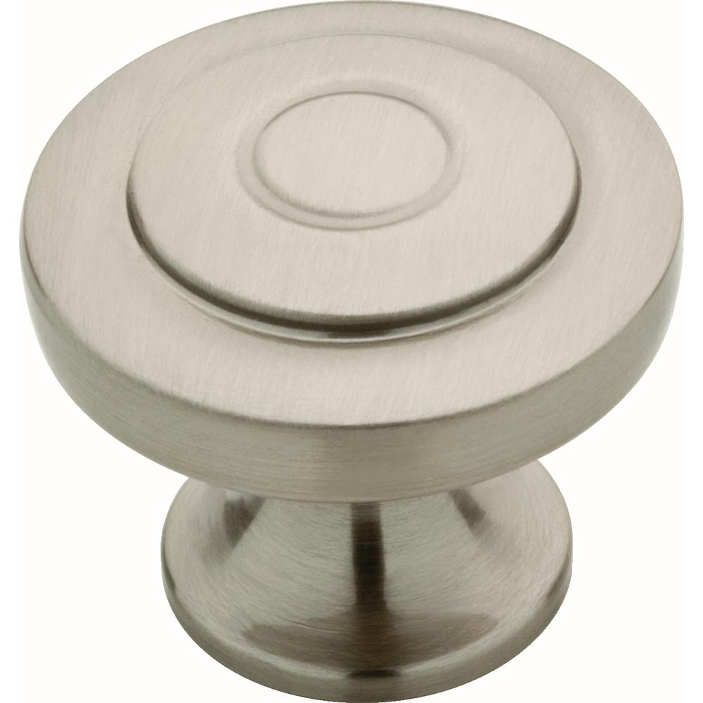 Essentials Geary 1-1/4 in. (32 mm) Satin Nickel Cabinet Knob (10-Pack)